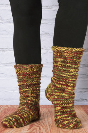 Space Dyed Slipper Socks - Mexicali Blues