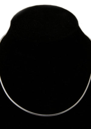 Sterling Silver Necklace Thick Chain - Mexicali Blues