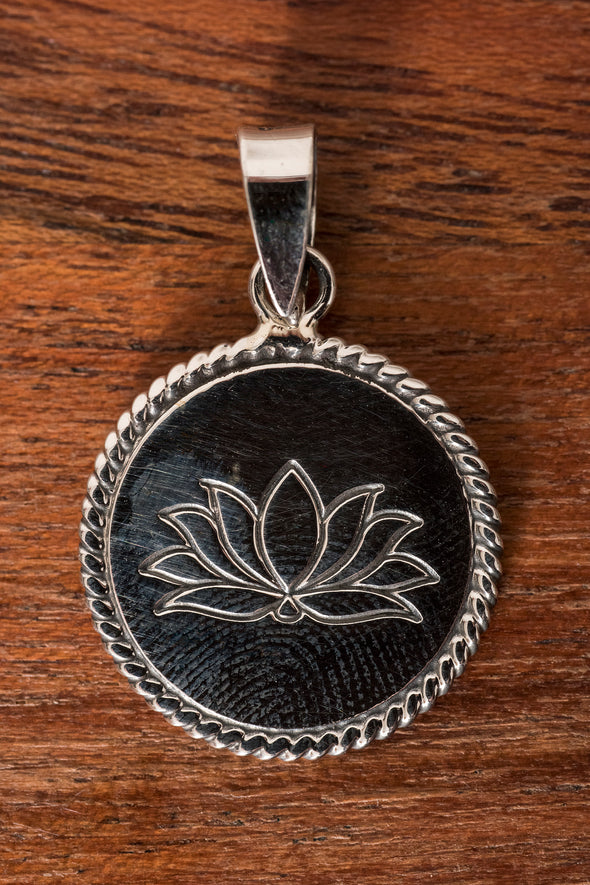 Stamped Sterling Coin Pendant - Mexicali Blues