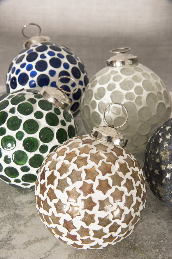 Mosaic Glass Globe Ornament