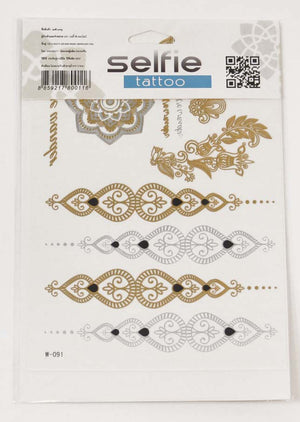 Metallic Flash Temporary Tattoo Set - Mexicali Blues