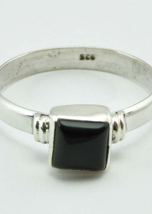 Square Set Gemstone Ring - Mexicali Blues