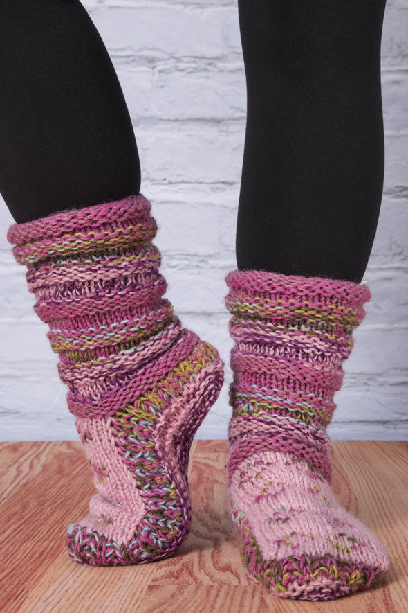 Ribbed Slipper Socks - Mexicali Blues