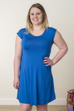 Dancing Daze Jersey Dress - Mexicali Blues