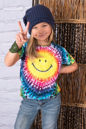 Smiley Kid's Tie Dye Tee - Mexicali Blues