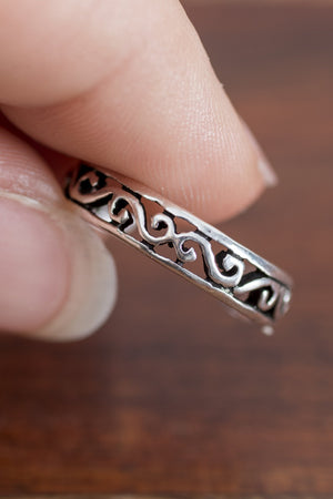 Sterling Silver Toe Ring - Mexicali Blues