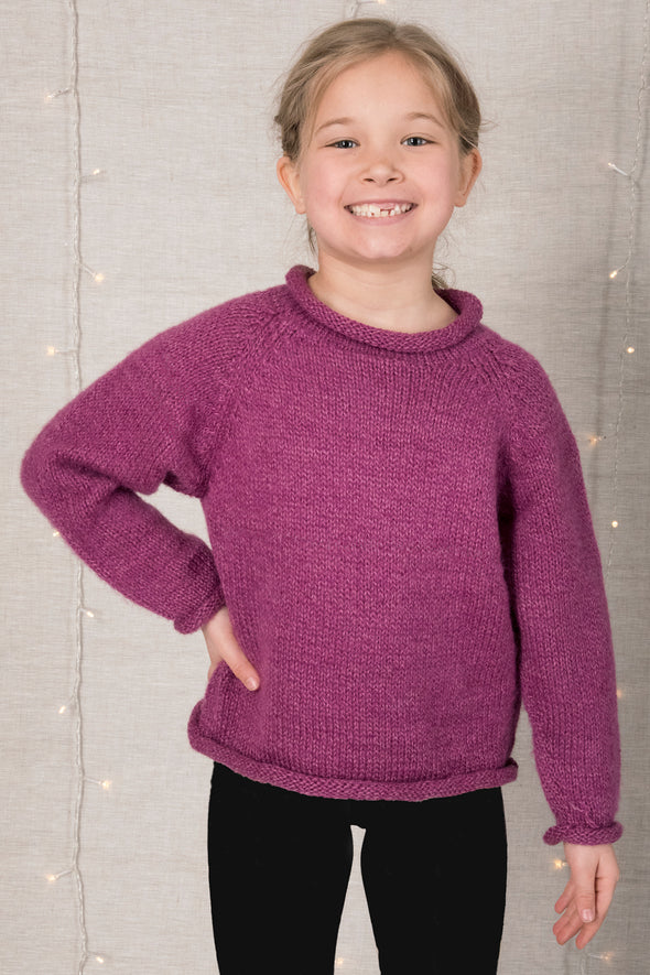 Kids' Alpaca Roll Neck Sweater - Mexicali Blues