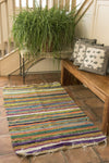 Recycled Fabric Rag Rug - Mexicali Blues