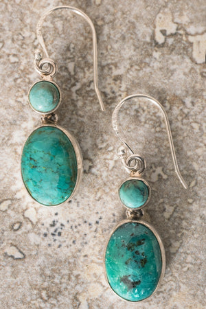 Ayama Gemstone Earrings - Mexicali Blues