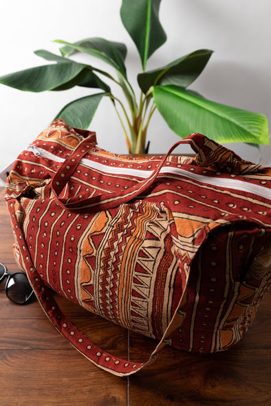 Balwara Block Print Shoulder Bag