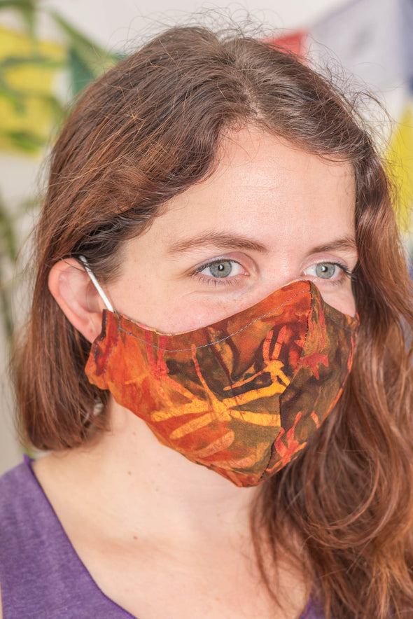 Batik Face Mask with Nose Wire