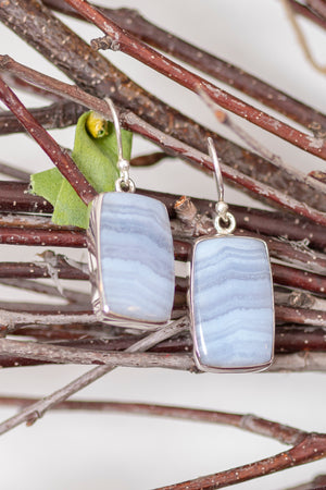 Blue Lace Agate Earrings
