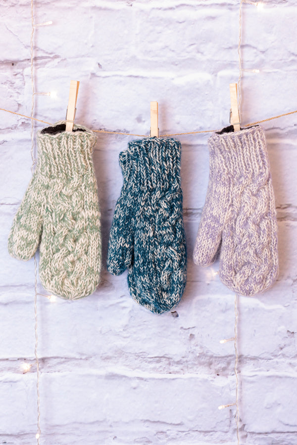 Cable Knit Finley Mittens