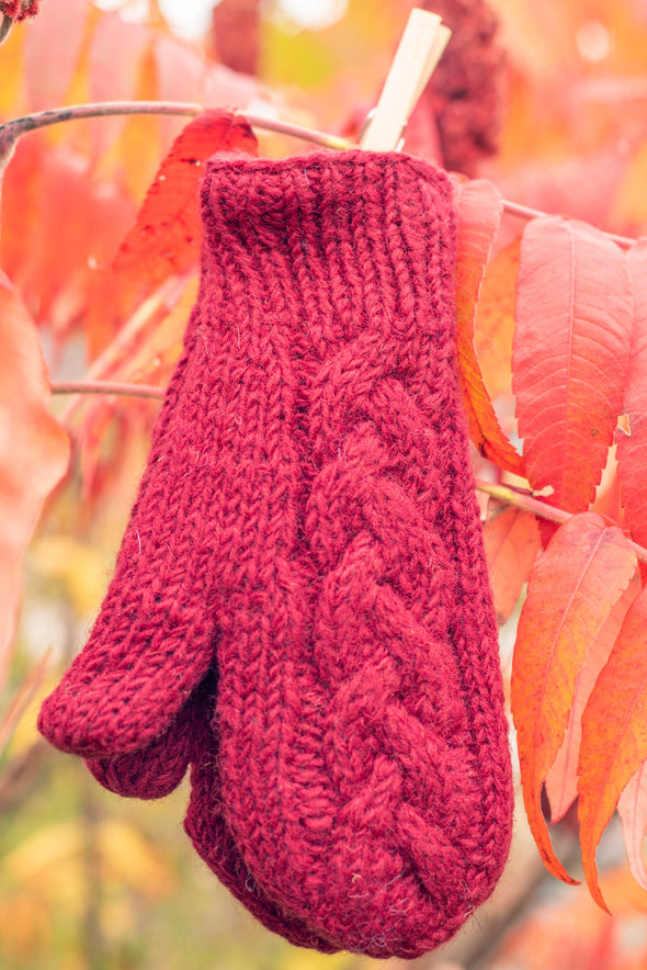 Cable Knit Mari Mittens
