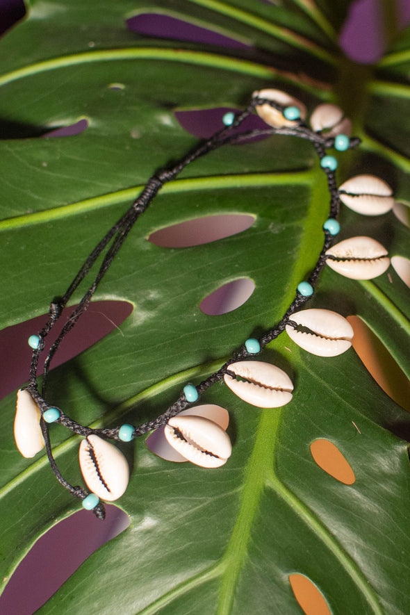 Cowrie Drop Shell Anklet