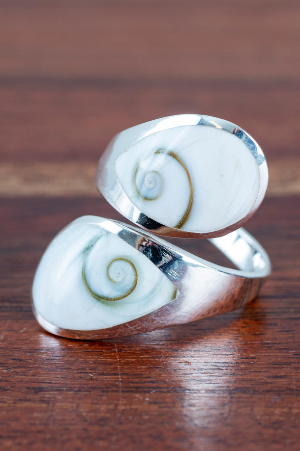 Double Panel Shiva Eye Ring