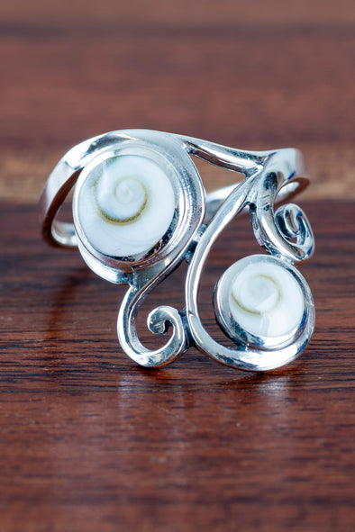Double Swirl Shiva Eye Ring