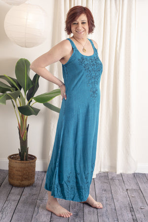 Embroidered Elina Tank Dress