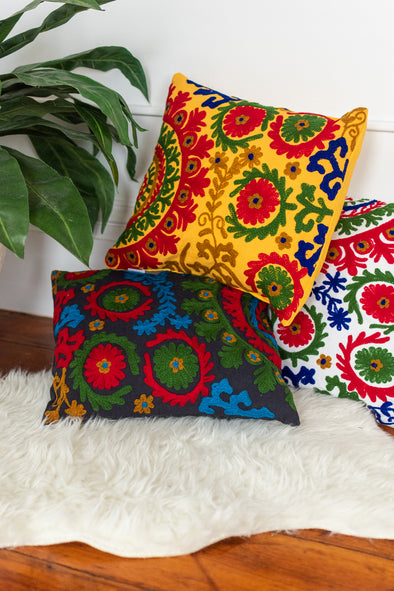 Embroidered Suzani Cushion Sham
