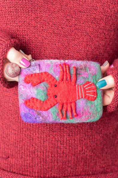 Felt Lobster Coin Purse