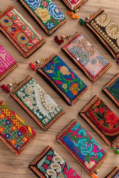 Jai Bhagwan Embroidered Wallet