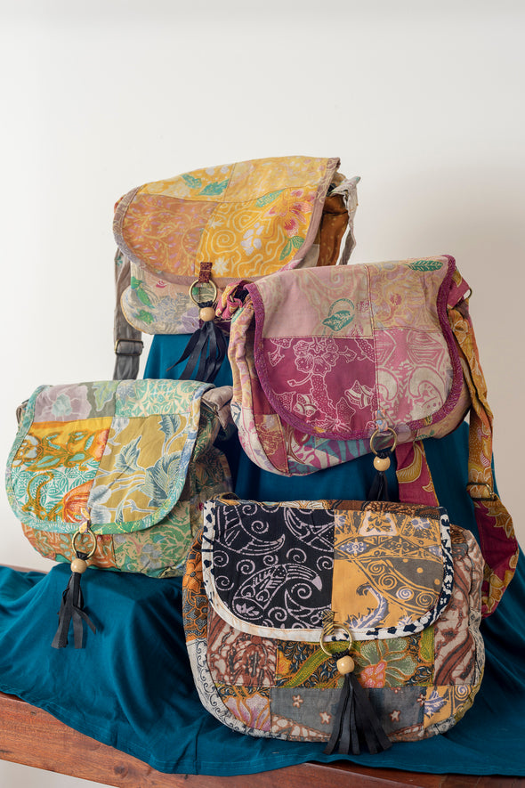 Java Patch Saddle Bag