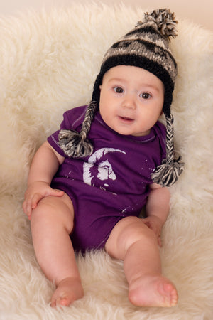 Pom Pom Infant Wave Hat