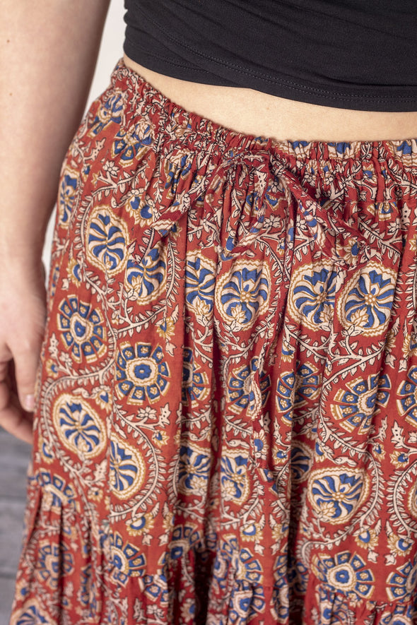 Kali Block Print Panel Skirt