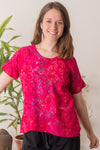 Kimber Batik Short Sleeve Tunic