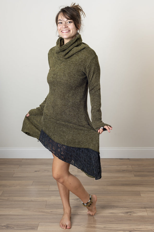 Layered Lila Sweater Dress