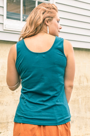 Malasana Yoga Tank Top - Mexicali Blues