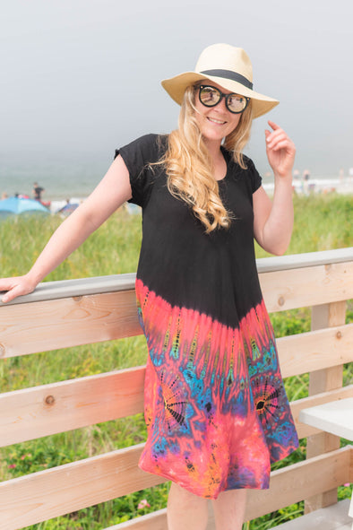 Mudmee Tie Dye Trapeze Dress