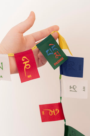 Ohm Mani Padme Prayer Flags