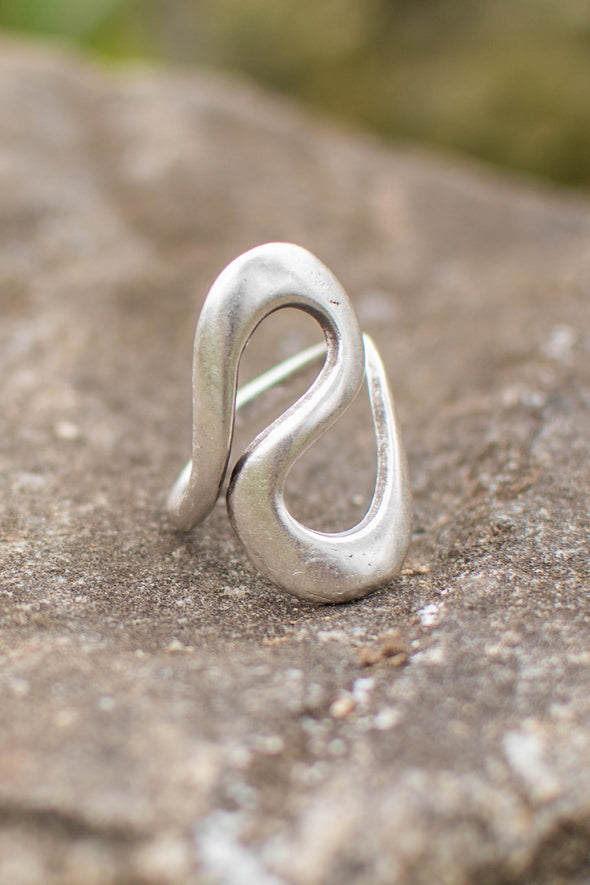 Open Infinity Adjustable Zamak Ring