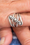 Orbital Swirl Adjustable Zamak Ring