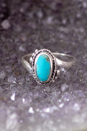 Ornate Turquoise Oval Ring