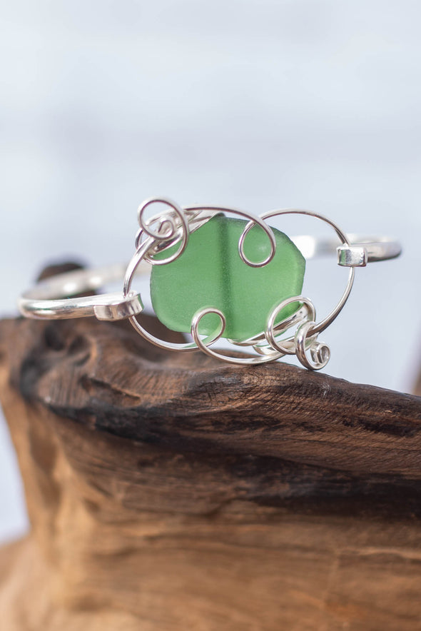 Ornate Wrapped Seaglass Bracelet