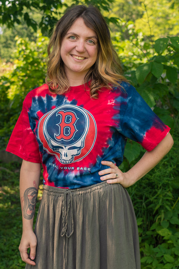 Red Sox Steal Your Base Tie Dye T-Shirt