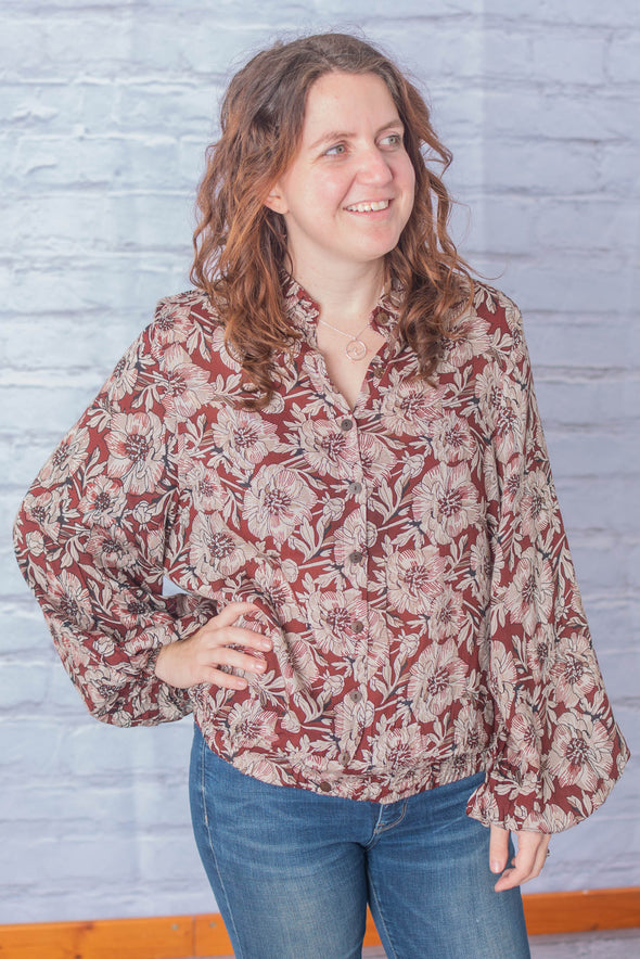 Shefali Cinch Button Down