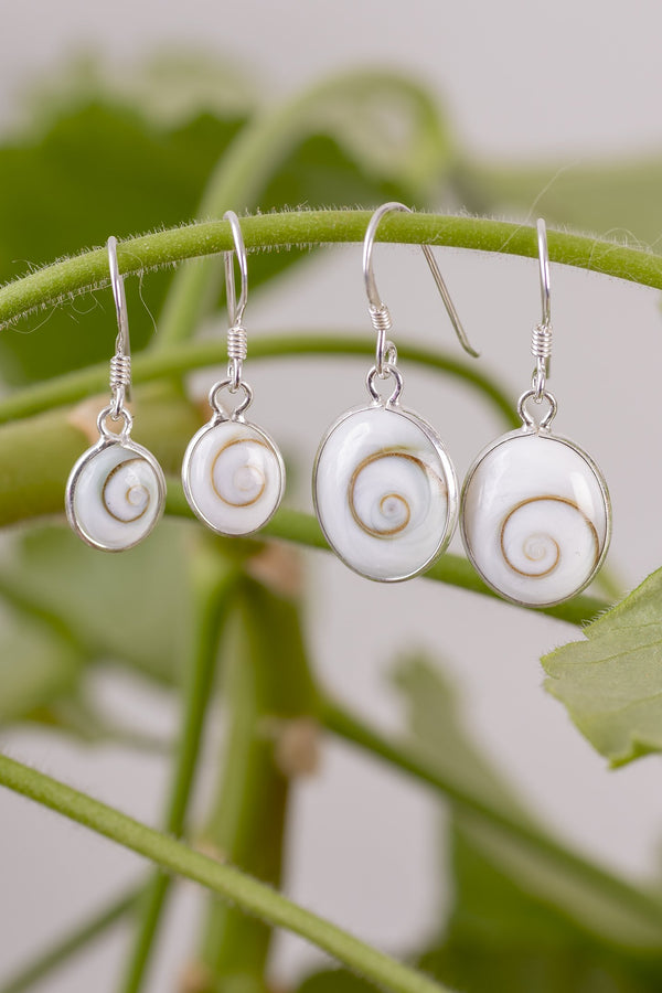 Shiva Eye Oval Earrings - Mexicali Blues