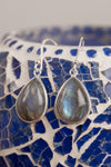 Simple Drop Gemstone Earrings - Mexicali Blues