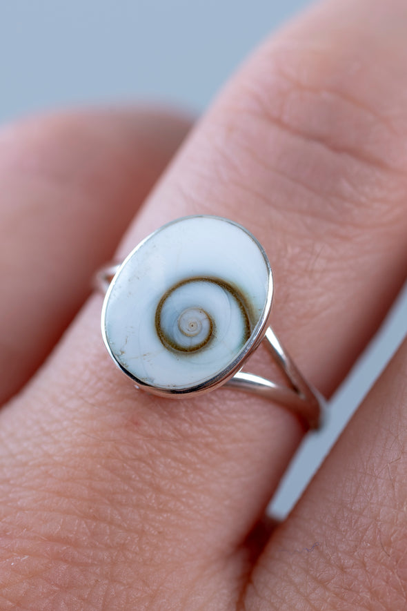 Simple Shiva Eye Sterling Ring - Mexicali Blues