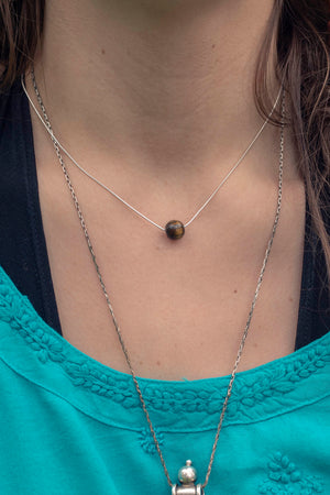 Single Gem Bead Necklace