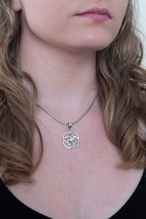 Small Celtic Knot Pendant - Mexicali Blues