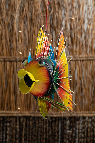 Spiny Tin Fish Lantern