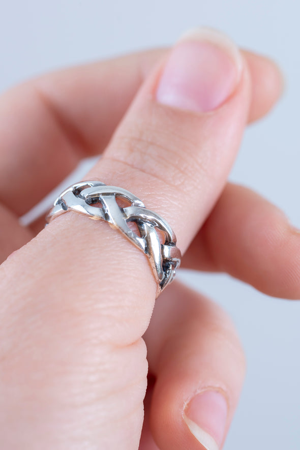 Sterling Braided Band Ring