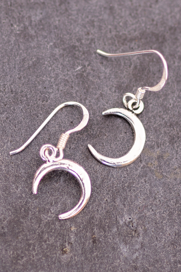 Sterling Crescent Earrings