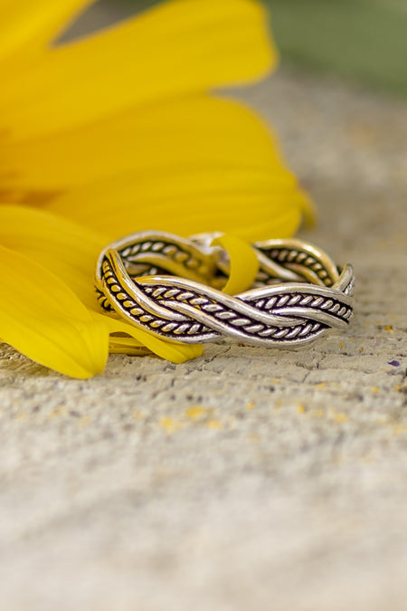 Sterling Rope Twist Ring
