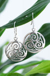 Sterling Silver Triskelion Earrings
