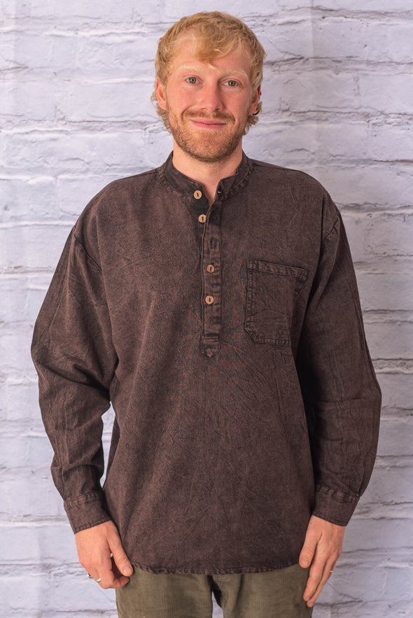 Stonewashed Grandfather Shirt